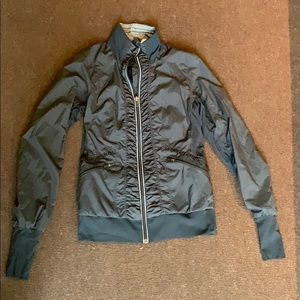 Lululemon Black Ruched Track Jacket, size 6